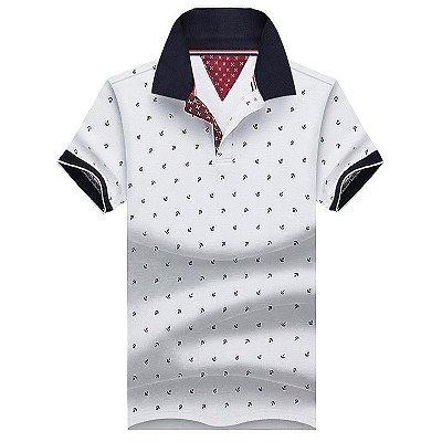 Camiseta Polo Masculina Âncora - 4 cores