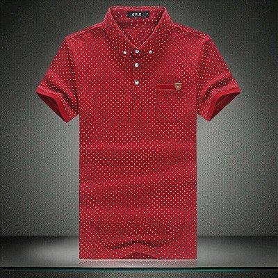 Camiseta Polo Masculina Poá - 3 cores