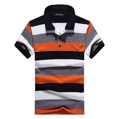 Camiseta Masculina Polo Listrada - 2 cores