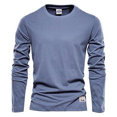 Camiseta Lisa Manga Longa - 7 cores
