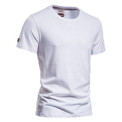 Camiseta Básica Gola Redonda - 10 cores