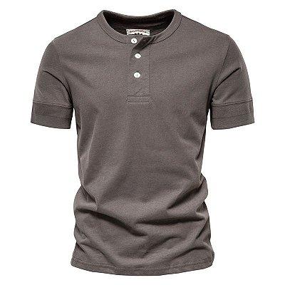 Camiseta Gola Botões - 5 cores