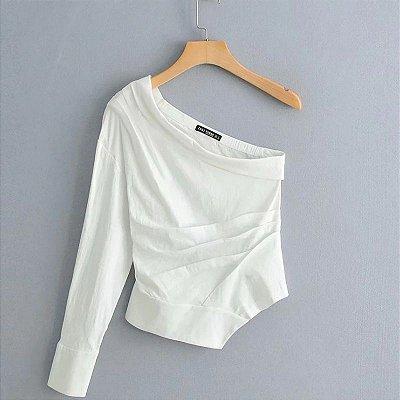 Blusa One Shoulder Assimétrica
