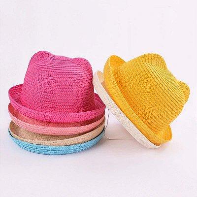 Chapéu de Palha Orelhinhas - 6 cores