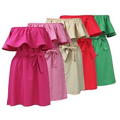 Vestido Ombro a Ombro - 5 cores