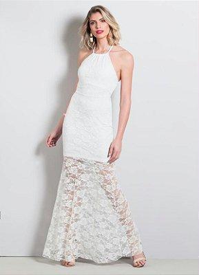 Vestido de Renda Longo Branco