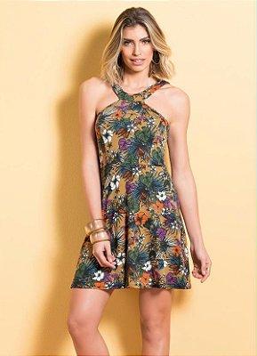 Vestido Floral Acinturado