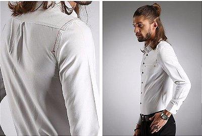 Camisa Masculina Details Branca