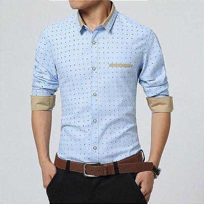Camisa Masculina Poá - 4 cores