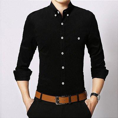Camisa Masculina Aveludada - 16 cores