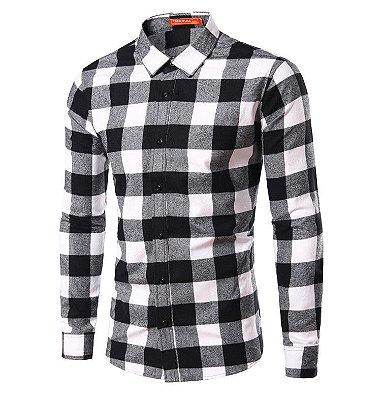 Camisa Masculina Quadriculada Clássica