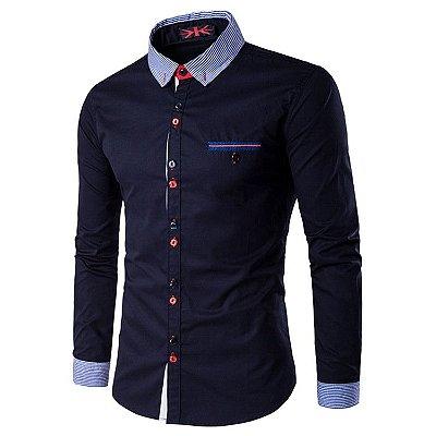Camisa Masculina Trend Azul Marinho