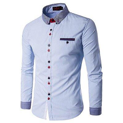 Camisa Masculina Trend Azul Claro