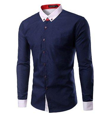 Camisa Masculina Duo Azul Marinho
