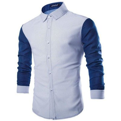 Camisa Masculina Poá Branca