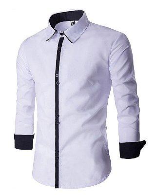 Camisa Masculina Minimal Branca