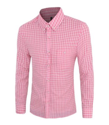 Camisa Masculina Xadrez Rosa