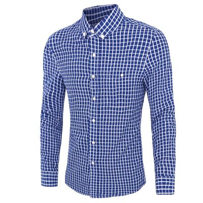 Camisa Masculina Xadrez Azul