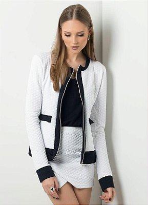 Casaqueto Bicolor Branco e Preto