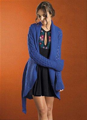 Cardigan de Lã Mangas Sino - 3 cores