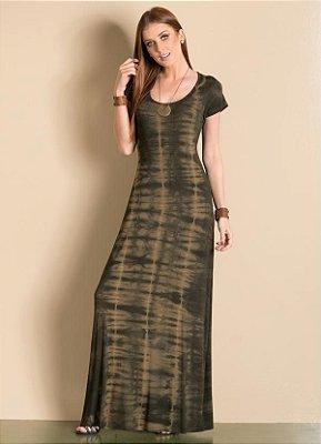 Vestido Longo Tie Dye Escuro