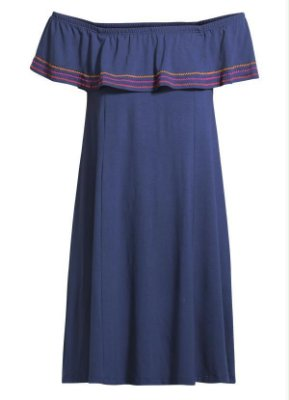 Vestido Ciganinha Soltinho Marinho
