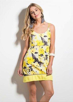 Vestido Floral Amarelo com Alças