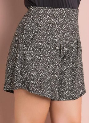 Short Soltinho Floral Plus Size