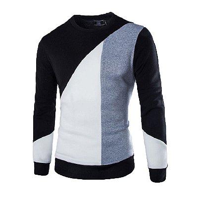 Suéter Masculino Slim Fit - Preto