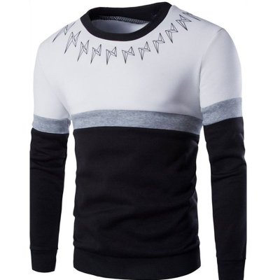 Suéter Masculino com Detalhe na Gola - Branco