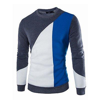 Suéter Masculino Slim Fit - Cinza