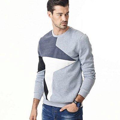 Suéter Slim Fit Geométrico - 3 cores