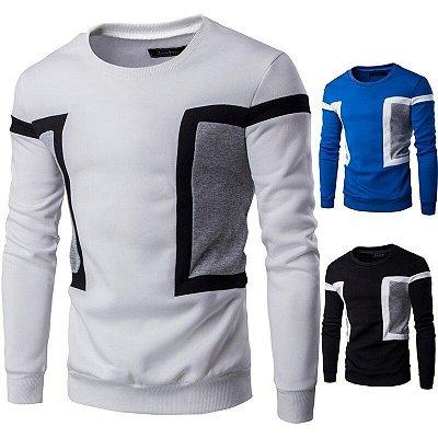 Suéter Masculino com Detalhe na Lateral - 3 cores