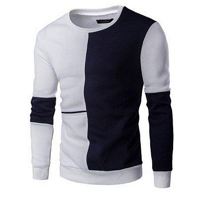 Suéter Masculino Duo - Branco e Preto