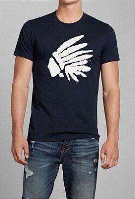 T-Shirt Masculina Básica  Índio - Azul