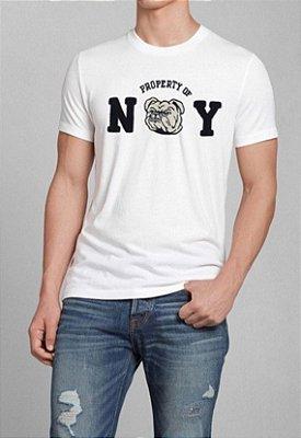 T-Shirt Masculina Branca NY