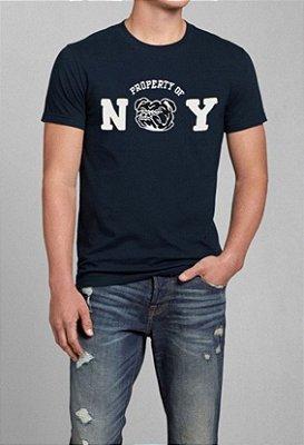 T-Shirt Masculina Azul NY