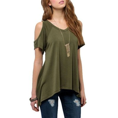 Blusa Assimétrica Off Shoulder - 5 Cores
