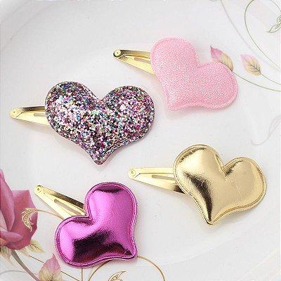 Presilha de Cabelo Coração - 4 cores