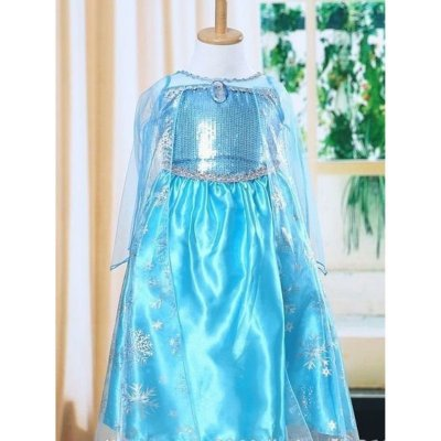 Vestido Azul Personagem Gelo