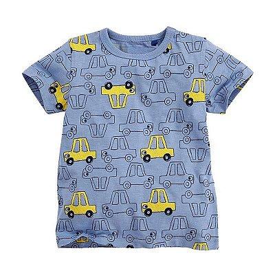 Camiseta Carros Azul