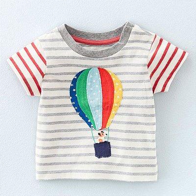 Camiseta Balão Listrada