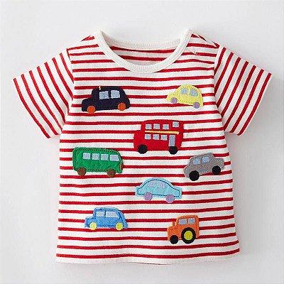 Camiseta Carros Listrada