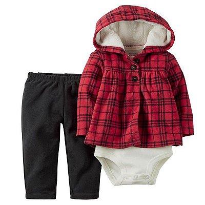 Conjunto Bodysuit Xadrez - 3 peças