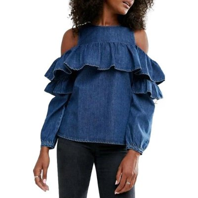 Blusa Jeans Off Shoulder