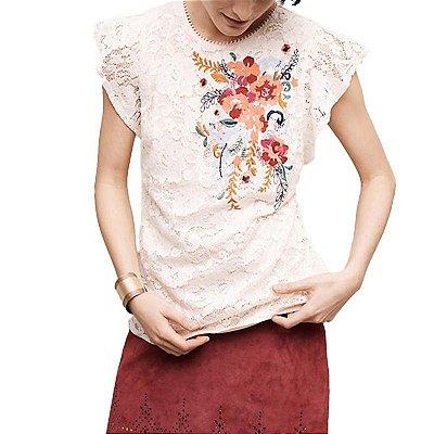 Blusa de Renda com Flores