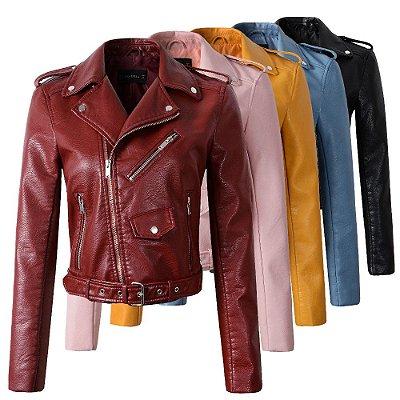 Jaqueta de Couro - 5 cores