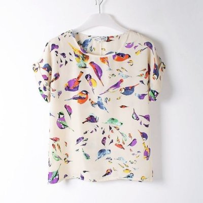 Blusa estampa de Pássaros