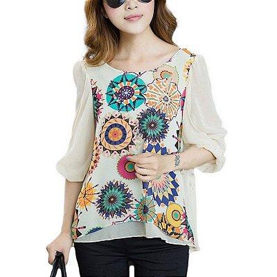Blusa Estampa Psicodélica - 2 cores