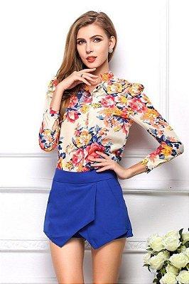 Camisa de Chiffon Floral - 2 cores